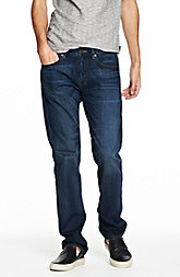 Indigo Wash Straight Leg Jean