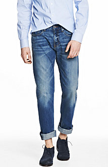 Light Indigo Wash Straight Leg Jean