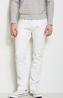 J66 - White Stretch Jean<br>Online Exclusive