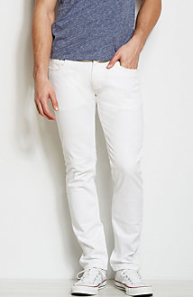 J130 - Stretch White Skinny Jean