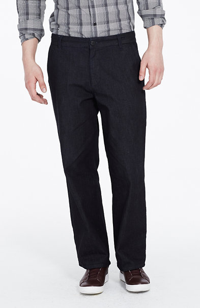 Dark Rinse Wide-Leg Jean