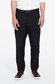 Dark Rinse Drop-Crotch Jean