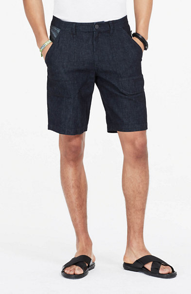Two-Tone Chambray Short