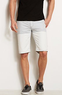 Striped Denim Short