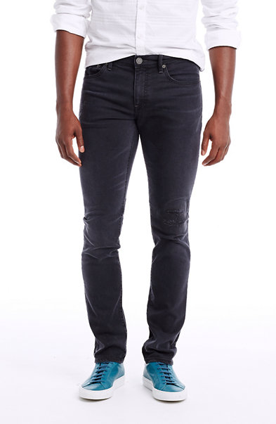 Black Rip and Repair Jean