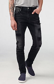 Black Shredded Skinny Jean