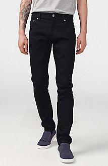Yarn-Dye Black Skinny Jean