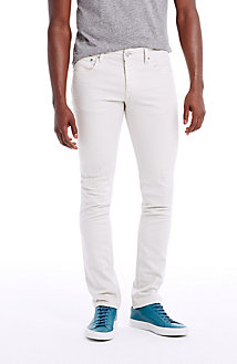 White Rip and Repair Jean