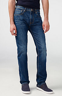 Medium-Wash Relaxed Straight-Fit Jean