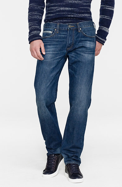 Dark Wash Straight-Leg Jean