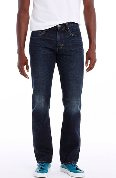 Dark Wash Relaxed Straight Leg Jean