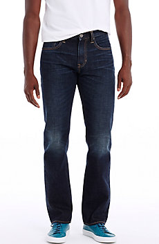 Dark Wash Relaxed Straight Leg Jean