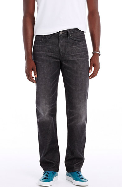 Rinsed Black Relaxed Straight Jean