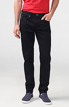 Yarn-Dye Black Straight-Leg Jean