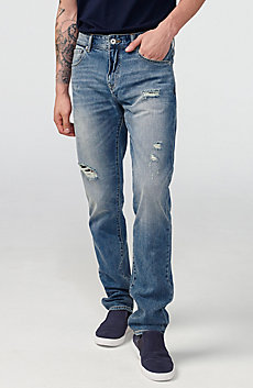 Distressed Slim-Fit Jean