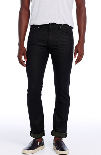 Black/Green Fill Skinny Jean