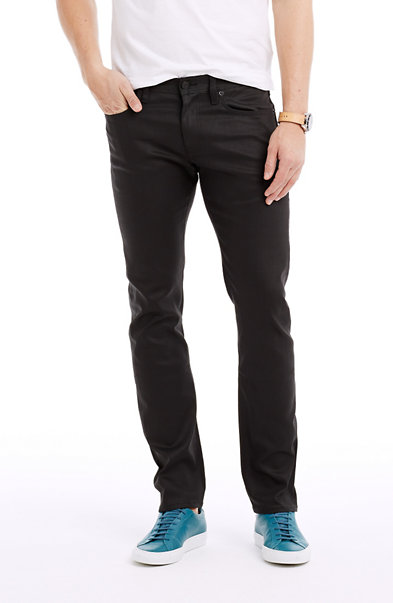 Coated Black Skinny Jean