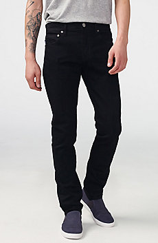 Yarn-Dye Black Slim-Fit Jean