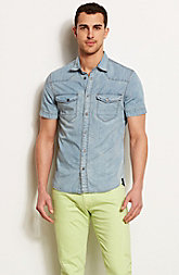 Short Sleeve Denim Shirt