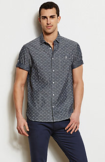 Paisley Denim Shirt