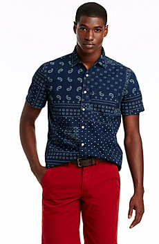 Short Sleeve Bandana Print Shirt