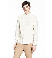 Collarless Denim Shirt