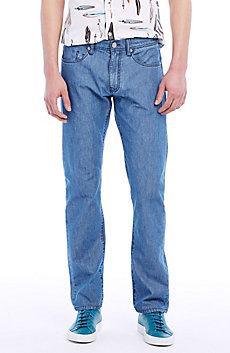 Straight-Leg Chambray Jean