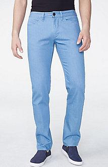 Light Blue Straight-Fit Denim Pant