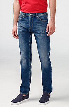 Straight-Leg Whiskered Jean