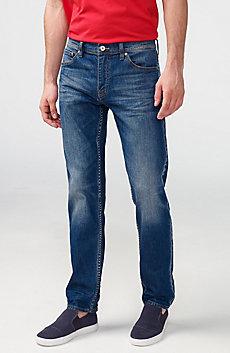 Straight-Leg Whiskered Jean