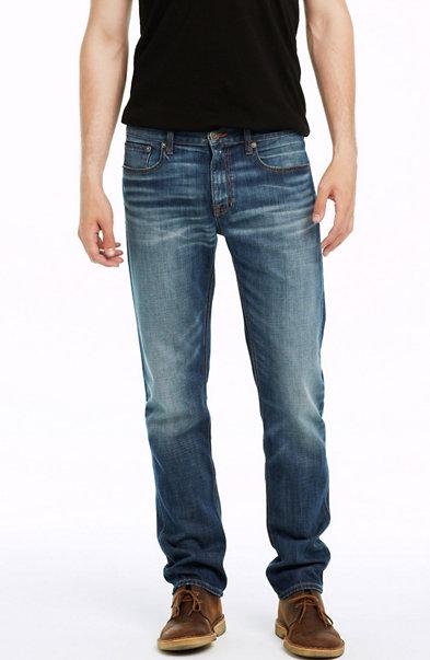 Worn Indigo Wash Straight Leg Jean