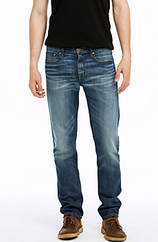 Worn Indigo Wash Straight Leg Jean