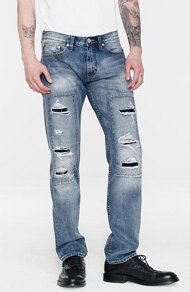 Shredded Straight Leg Jean