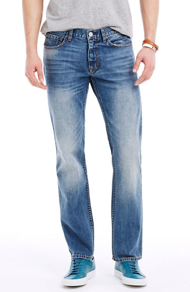 Heavy Washed Straight Jean