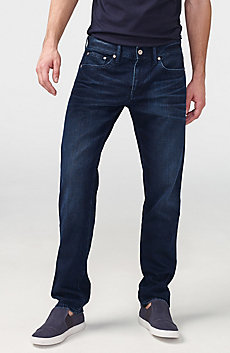 Straight-Leg Dark-Wash Jean