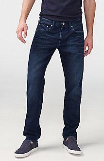 Straight-Leg Dark-Wash Jean