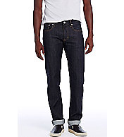 Rinsed Japanese Selvedge Straight Leg Jean