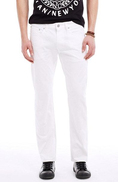 White Straight Leg Jean