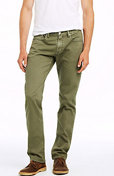 Garment Dyed Straight Leg Jean