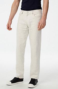 Linen Straight-Leg Pant