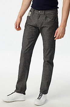 Grey Straight-Leg Trouser Jean