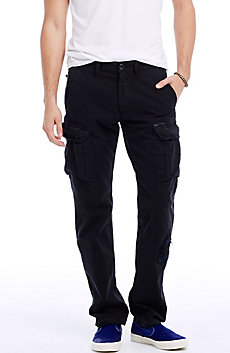 Black Ripped Cargo Pant