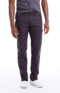 Utility Zipper Chino Pants