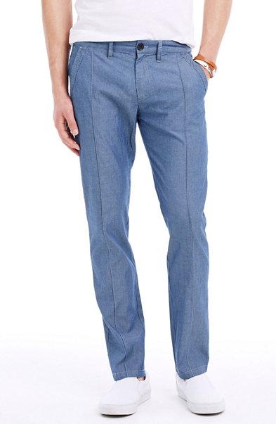 Striped Yarn-Dyed Cotton Pant