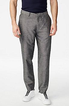 Linen-Blend Dress Pant