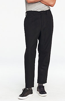 Drop-Crotch Wool Trouser