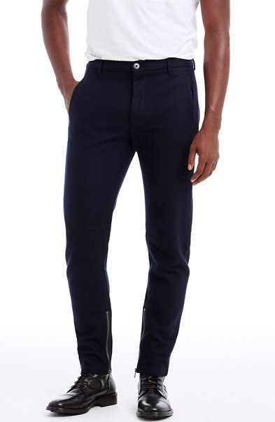 Zippered Wool Pant