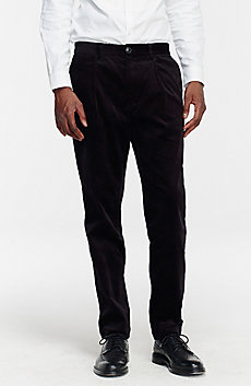 Pleated Velvet Trouser