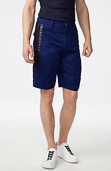 Contrast Zip Print Shorts