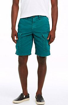 Garment Washed Cargo Short